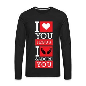 I Love You Jesus - Men's Premium Long Sleeve T-Shirt
