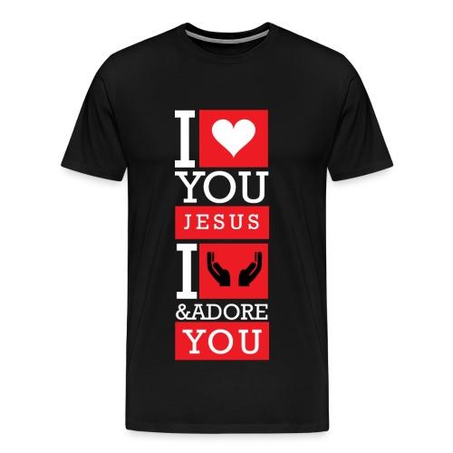 I Love You Jesus - Men's Premium T-Shirt
