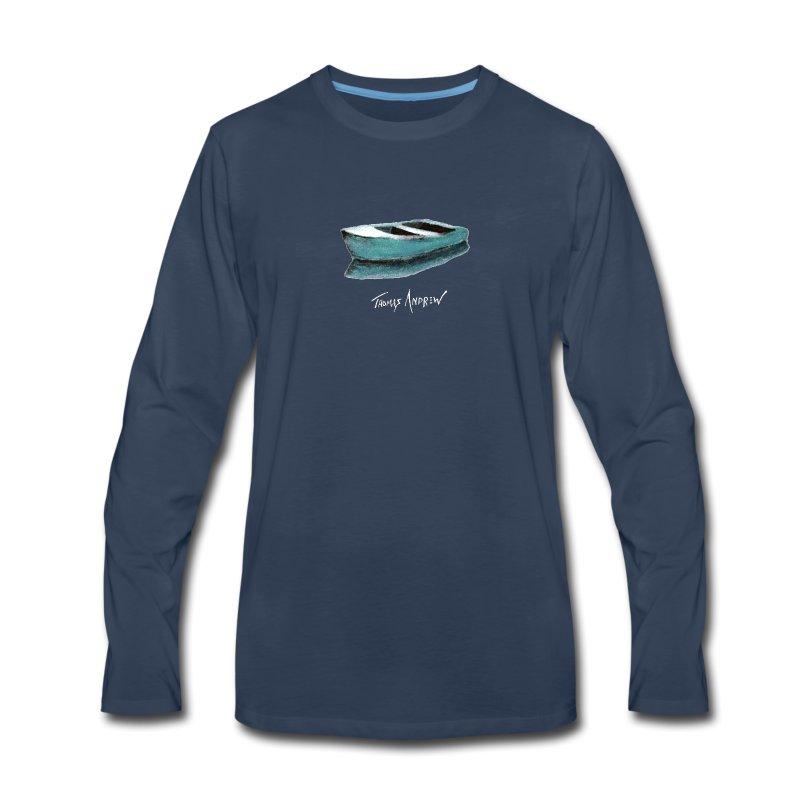 Blue Boat Tshirt design7P - Men's Premium Long Sleeve T-Shirt