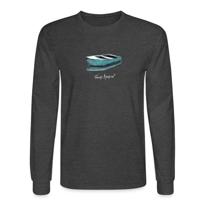 Blue Boat Tshirt design7P - Men's Long Sleeve T-Shirt