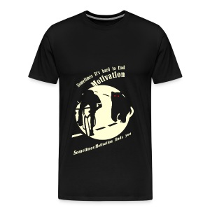 Motivation T-Shirt for Cycling Enthusiasts. - Men's Premium T-Shirt