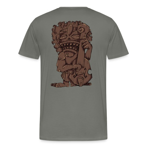 [mens] Upright Bass Tiki God - Signature Bass Musician Magazine Design by Jon Moody - Men's Premium T-Shirt