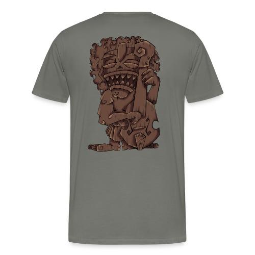 [mens] Upright Bass Tiki God - Signature Bass Musician Magazine Design by Jon Moody - Men's Premium T-Shirt