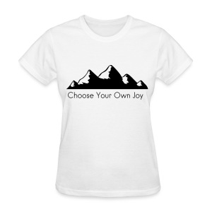 Women's Shirt Half Heart Choose Your Own Joy! - Women's T-Shirt