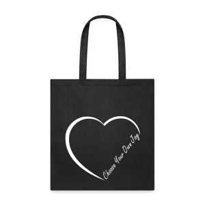 Half Heart  Choose Your Own Joy Bag - Tote Bag