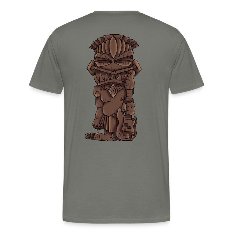 [mens] Electric Bass Tiki God - Signature Bass Musician Magazine Design by Jon Moody - Men's Premium T-Shirt