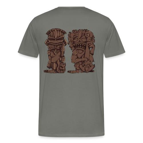 [mens] Electric & Upright Bass Tiki Gods - Signature Bass Musician Magazine Design by Jon Moody - Men's Premium T-Shirt