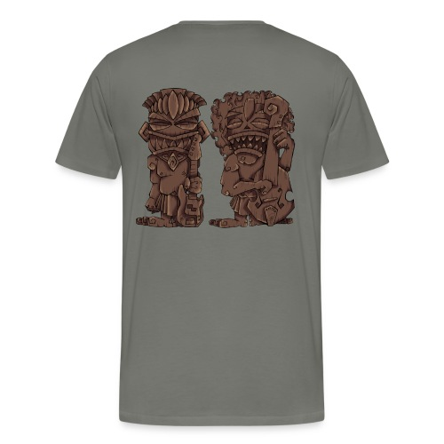 [mens] Electric & Upright Bass Tiki Gods - Signature Bass Musician Magazine Design by Jon Moody - Men's Premium T-Shirt