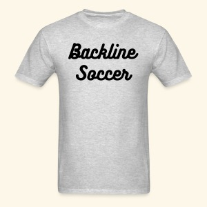 Dark Text Backline Soccer Shirt - Men's T-Shirt