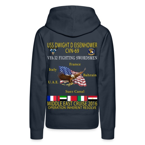 IKE AIRWING - VFA-32 FIGHTING SWORDSMEN 2016 CRUISE HOODIE (80/20) - WOMEN'S - Women's Premium Hoodie