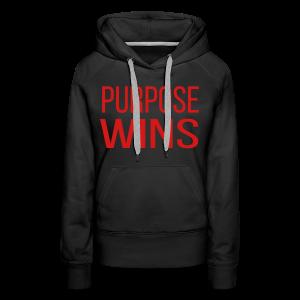 Purpose Wins Women's Premium Hoodie (Black/Red) - Women's Premium Hoodie