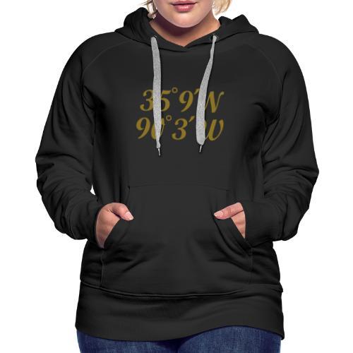 Memphis, Tennessee Coordinates Hoodie (Women/Gold) - Women's Premium Hoodie