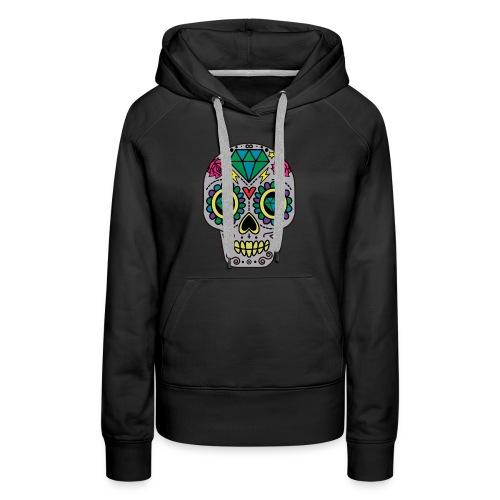 Diamond & Rose Sugar Skull Hoodie - Women's Premium Hoodie
