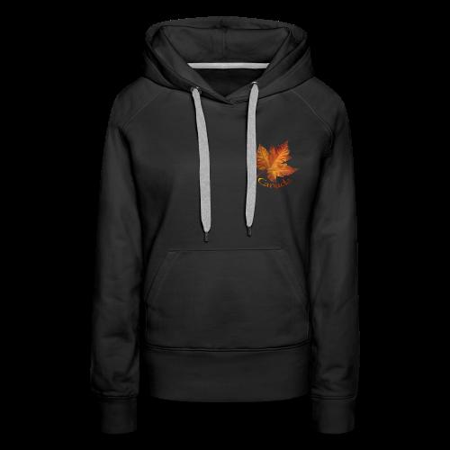 Women's Canada Hoodie Maple Leaf Souvenir Hooded Sweatshirt - Women's Premium Hoodie