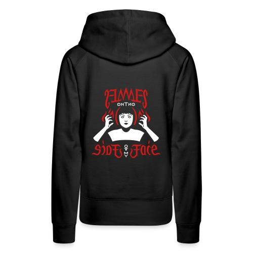 Flames Face women's Hoodie - Women's Premium Hoodie