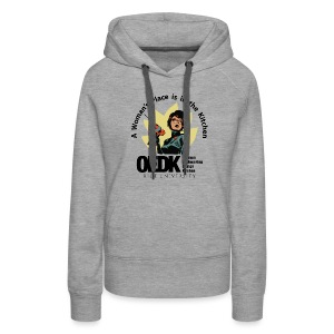 OEDK Woman's Place Logo - Black - Women's Premium Hoodie
