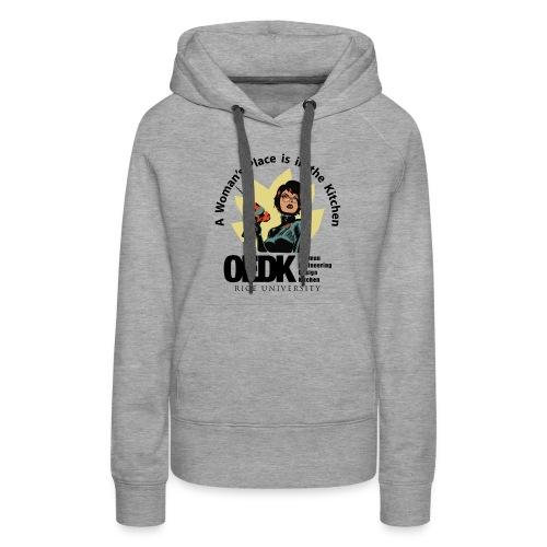 OEDK Woman's Place Logo - Black - Women's Premium Hoodie