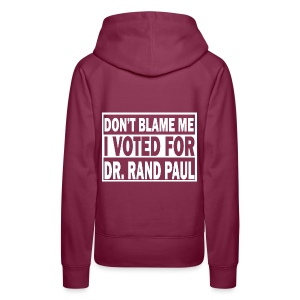 Don't Blame Me I voted For Rand Paul Women's Purple Hoodie - Women's Premium Hoodie