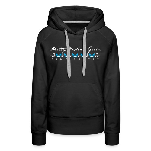 Women's Black Sweater-Blue Tipi - Women's Premium Hoodie