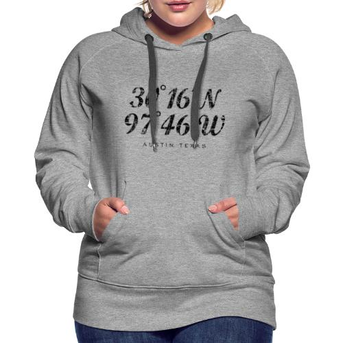 Austin Coordinates Hoodie (Women/Gray) - Women's Premium Hoodie