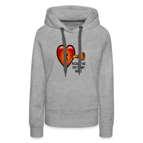 Pizza Is The Key To My Heart Women's Hoodie - Women's Premium Hoodie