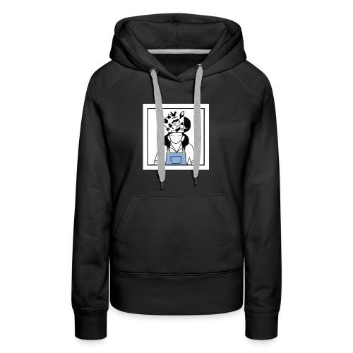 Farm Girl - Black Hood Profile - Women's Premium Hoodie
