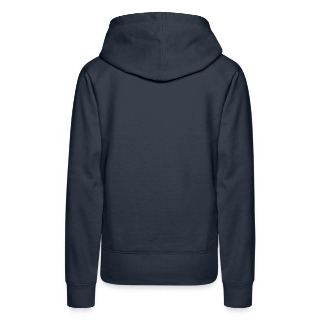 Ladies Sweatshirt Hoodie - White Logo