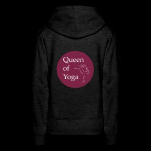 QUEEN OF YOGA - Women's Premium Hoodie