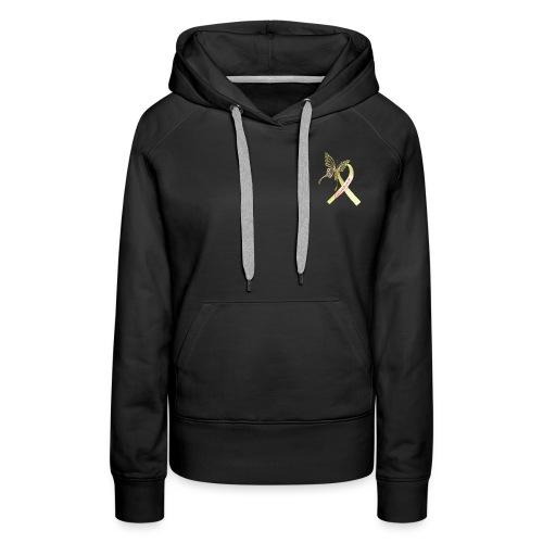 Endometriosis Gold Butterfly Ribbon - Women's Premium Hoodie