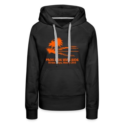 Womens premium page side wave side hoodie - Women's Premium Hoodie