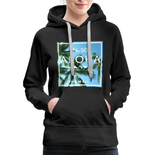 Aloha Hawaii Swaying Palm Tree Hoodie - Women's Premium Hoodie