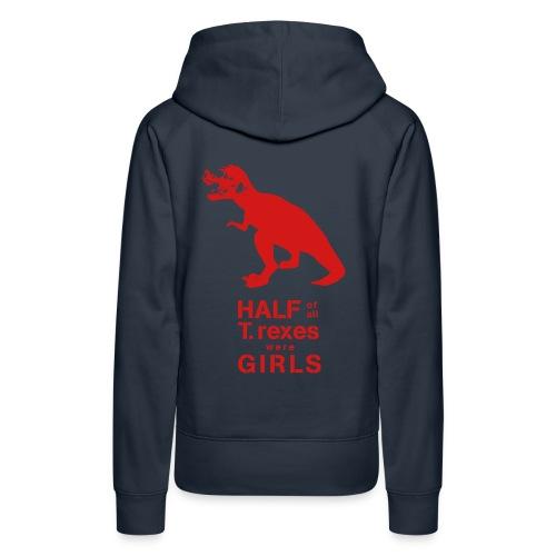 T.rex Women's Hoodie - Women's Premium Hoodie
