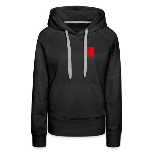 Women's Black Hoodie - Red Logo - Women's Premium Hoodie