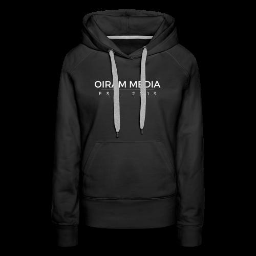 Oiram Media Text Hoodie Womens - Women's Premium Hoodie