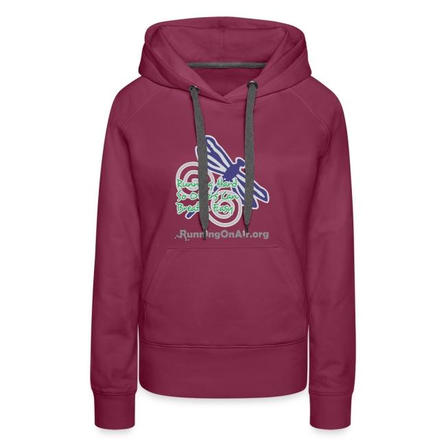 Dragonfly - I Run Hard - Women's premium hoodie