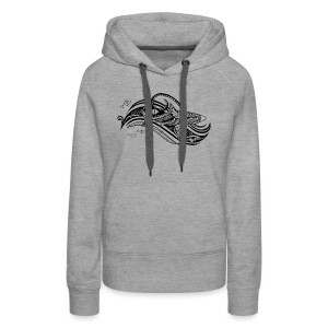 South Seas Tribal Shark Women's Premium Hoodie - Women's Premium Hoodie