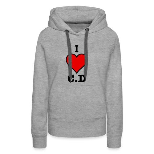 I Heart C.D - Womans premium hoodie - Women's Premium Hoodie
