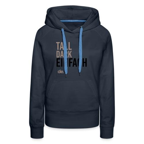 Women's Tall Dark Einfach Hoodie Navy Blue - Women's Premium Hoodie