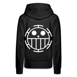 Women's Premium Hoodie - Unlike many other pirates from the North Blue, the Heart Pirates do not use a skull and crossbones, but a smiley face instead