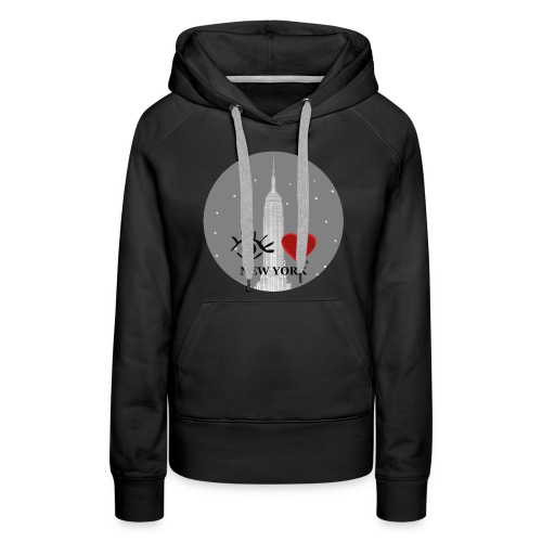 Eye Love New York Empire State Building - Women's Premium Hoodie