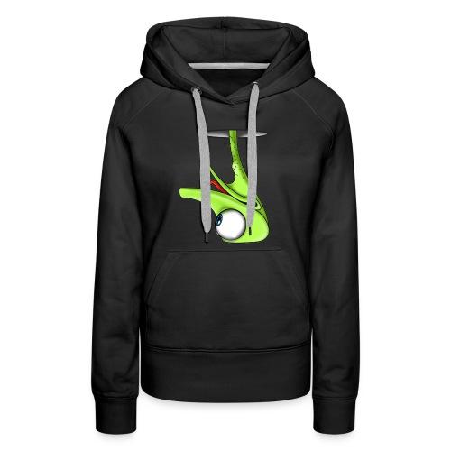 Funny Green Ostrich T-shirt - Women's Premium Hoodie