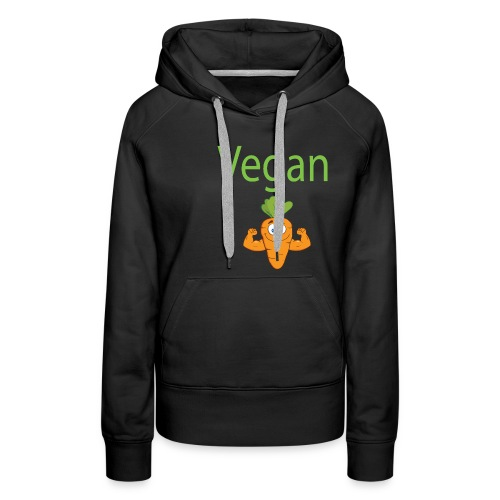 Vegan Strong Carrot - Women's Premium Hoodie