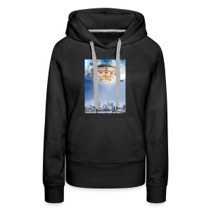 UFO Hoovering Earth - Women's Premium Hoodie