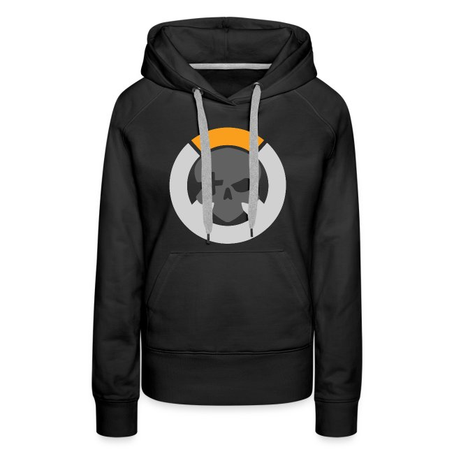 Black Inverted Logo Womens Hoodie