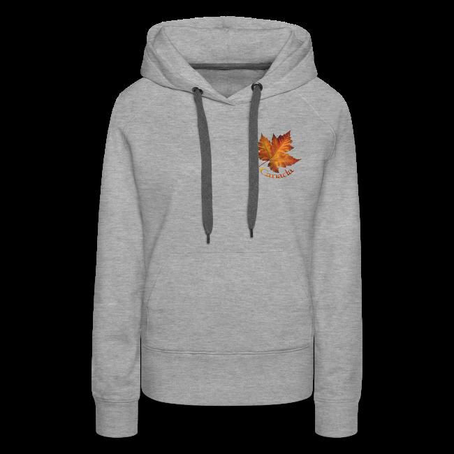 Women's Canada Hoodie Maple Leaf Souvenir Hooded Sweatshirt