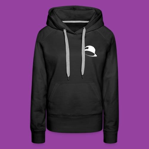 Women's Premium Black Hoodie (White Hat Logo) - Women's Premium Hoodie