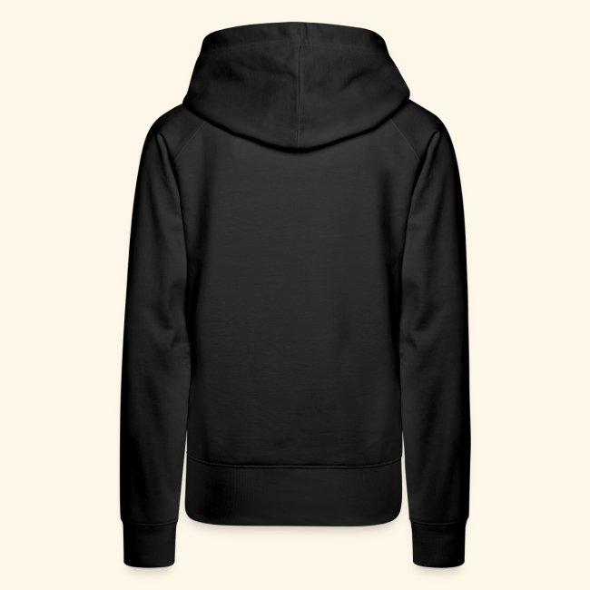 Women's Premium Hoodie, Black w/Neon Pink