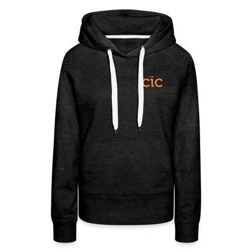 Women's Premium Hoodie, Dark Grey/CIC Orange - Women's Premium Hoodie