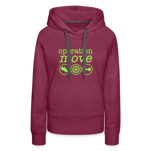 Heavyweight Hoodie - Purple with Green Print - Women's Premium Hoodie