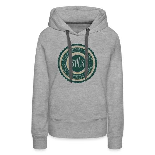 Women's Hoodie Spartan Cheerleaders   Green Gold Emblem - Women's Premium Hoodie